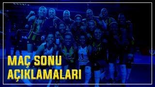 Fenerbahçe v Galatasaray Maç Sonu Açıklamaları | Natalia Zilio - Dicle Nur Babat - Yeon Koung Kim
