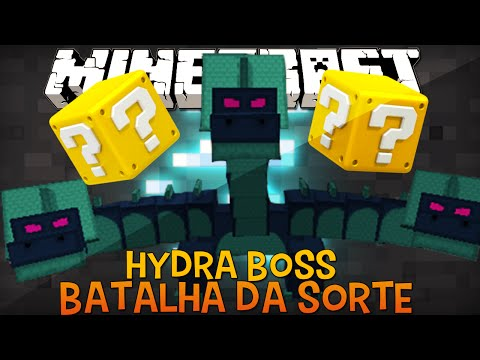 Batalha da Sorte Hydra Boss Desafio do Lucky Block Minecraft
