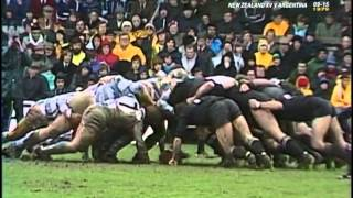 1979 Rugby Union match: New Zealand All Blacks vs Argentina Los Pumas (2nd Test)