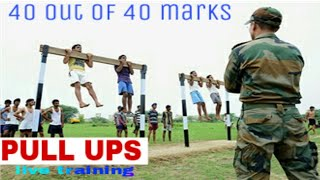 indian army physical fitness test  score full 40 /40 marks pull ups in Hindi watch full video