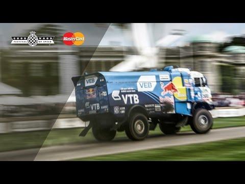 900hp Dakar Truck Destroys Soaking Wet Hillclimb
