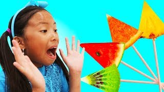 Learn Colors with Fruits Song | Wendy Pretend Play Nursery Rhymes & Kids Songs