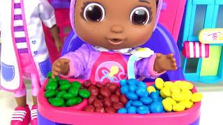 Get Well Baby CECE, Doc McStuffins Playset, Eat, Drink, Pacifier Learn Colors M&M