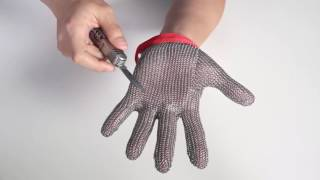 Stainless Steel Mesh Knife Cut Resistant ChainMail Protective Glove
