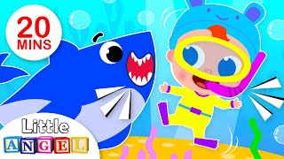 Baby Shark Does the Shark Dance | Kids Songs and Nursery Rhymes by Little Angel