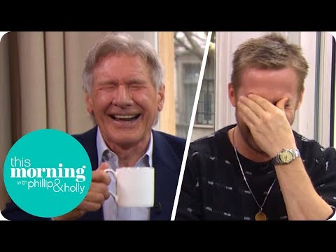 Xxx Mp4 Ryan Gosling And Harrison Ford Lose It At Hilarious Interview This Morning 3gp Sex