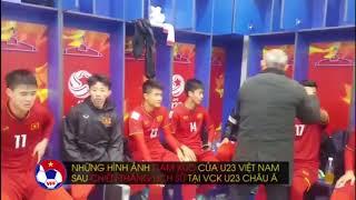 U23 Việt Nam ăn mừng chiến thắng lịch sử trước Australia ( vck châu á 2018)