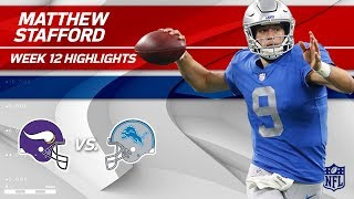 Matthew Stafford Serves Up 250 Yards & 2 TDs to Minnesota! | Vikings vs. Lions | Wk 12 Player HLs