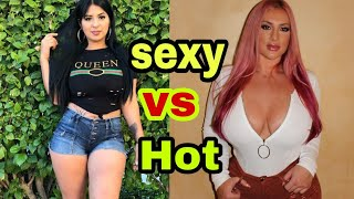 sexy vs hot plus models #11-- fashion and style tips