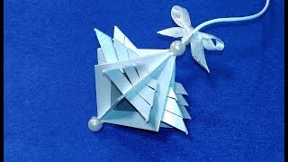 Super easy Christmas ornament from paper! Best ideas for Christmas decoration.
