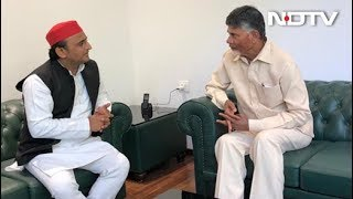 Samajwadi Party प्रमुख Akhilesh Yadav से मिले Chandrababu Naidu