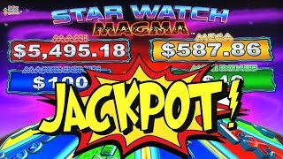 JACKPOT ME! ★ STAR WATCH MAGMA ➜ KONAMI SLOT MACHINE LIVE PLAY AND BONUS