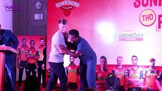 IPL10 | Sun Risers(SRH) David Warner & Muralidharan Fun Act | 2017| Purple Entertainments