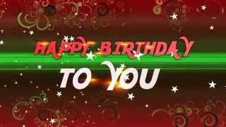 4K UHD HAPPY BIRTHDAY to you ANIMATION with TRAIL