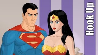 Cartoon Hook-Ups: Superman and Wonder Woman