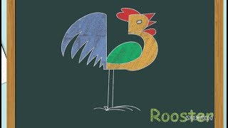 How To Draw Rooster – Easy Drawing Videos For Children   Step By Step Drawing   Shemaroo Kids