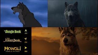 Mowgli (2018)/The Jungle Book (1967/2016): side-by-side comparison