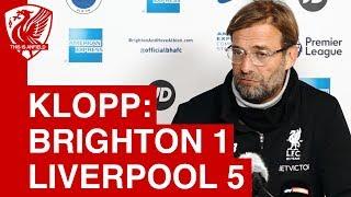 Brighton 1-5 Liverpool | Jurgen Klopp Post Match Press Conference