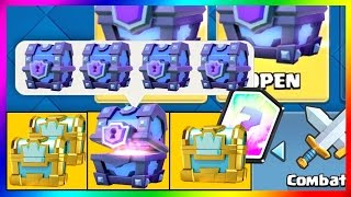 clash royale pack opening super magical chest legendaire