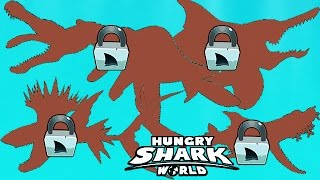Hungry Shark World - All New S M L XL Sharks Coming Soon Montage