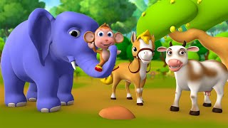 Hathi mera Dosth 3D Animated Hindi Stories for Kids Moral Stories हाथी मेरा दोस्त हिन्दी कहानी Tales