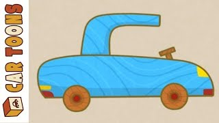 Car Toons on the roadside. Car cartoons for kids.