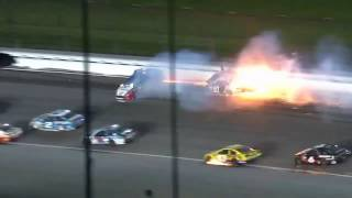 Aric Almirola INJURED (2017 GoBowing400 Kansas Devastating crash )