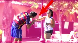 Luis Suarez Biting Hot Girls Prank!