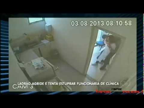 CÂMERAS REGISTRAM TENTATIVA DE ESTUPRO E O VAGABUNDO SENDO PRESO