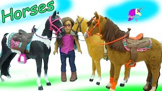 American Girl vs Our Generation vs My Life As Giant Sized Horses Haul Video
