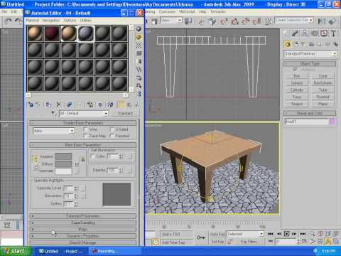 3ds Max Tutorials Beginner 3 Create Simple Table Camera and Render Out Part 1