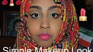 Simple makeup look on my sister