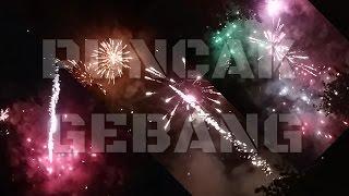 Kembang api detik2 tahun baru 2017 di Puncak Gebang Jogja...????