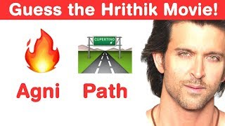 Hrithik Roshan Emoji Challenge! Can You Guess Bollywood Movies
