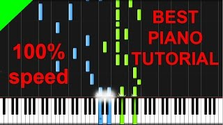 Avicii vs. Conrad Sewell - Taste The Feeling (Coca Cola) Piano Tutorial