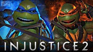 Injustice 2: FULL TMNT Gameplay Walkthrough!!