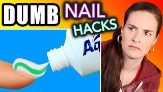 Testing DUMB Nail Hacks (SimplyNailogical torture)