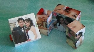 Como hacer un Cubo Magico con fotos para San Valentin / 14 de febrero / dia del amor y la amistad