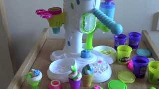 Play doh Ice cream Shop factory - unboxing sweet shoppe!