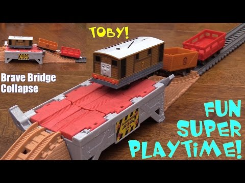 Thomas & Friends Trackmaster Trains Playtime Brave Bridge Collapse Unboxing & Playtime