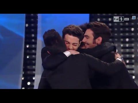 """Sanremo 2015 - Il Volo vince con """"Grande amore"""" - Serata finale 14022015"""
