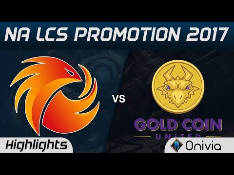 P1 vs GCU Highlights Game 1 NA LCS Summer 2017 Phoenix1 vs Gold Coin United by Onivia