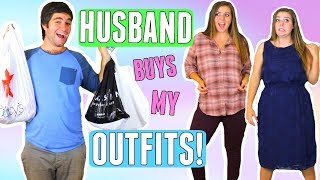 HUSBAND BUYS OUTFITS FOR WIFE!! SHOPPING CHALLENGE 2017! BOYFRIEND BUYS MY CLOTHES!
