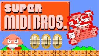 Super MIDI Bros. (MIDI Art/Drawing)