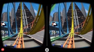 VR Roller Coaster - Best 3D SBS VR Roller Coaster for Google Cardboard