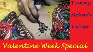 Tummy Mehndi Tattoo for Valentine Week Special - Girls Era