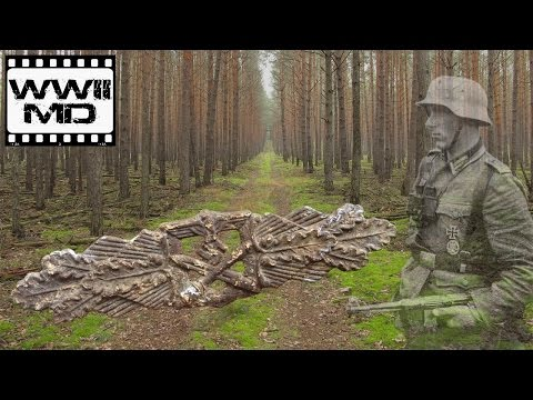WWII Metal Detecting German Waffen SS Traces of War on the Eastern Front HD