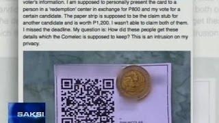 QR coded stubs mula raw sa isang partido, high tech na vote buying, ayon sa kalabang partido