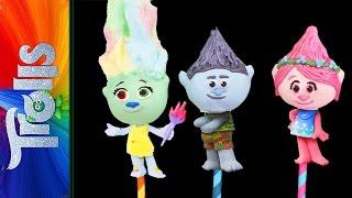 TROLLS MOVIE CAKE POPS - Poppy Harper & Branch -  NEW TROLLS CAKEPOPS! | Elise Strachan