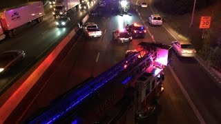 Woman hit by vehicle on southbound I-35 in downtown Austin